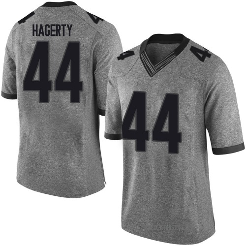Men's Nike Michael Hagerty Georgia Bulldogs Limited Gray Football College Jersey