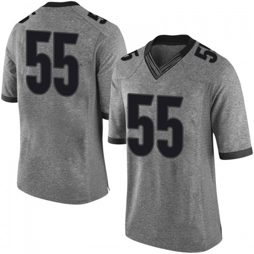 Men's Nike Miles Miccichi Georgia Bulldogs Limited Gray Football College Jersey