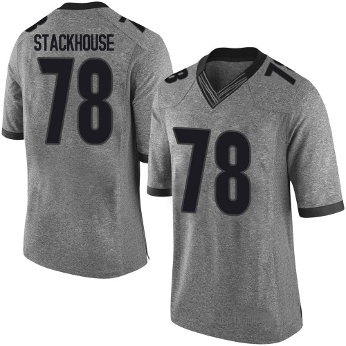 Men's Nike Nazir Stackhouse Georgia Bulldogs Limited Gray Football College Jersey