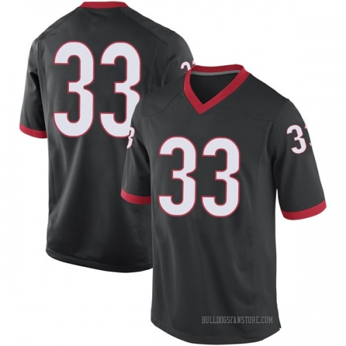 Men's Nike Nicolas Claxton Georgia Bulldogs Replica Black Football College Jersey