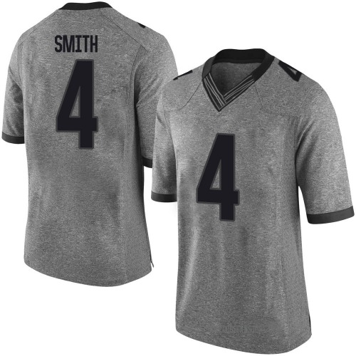Men's Nolan Smith Georgia Bulldogs Limited Gray Football College Jersey