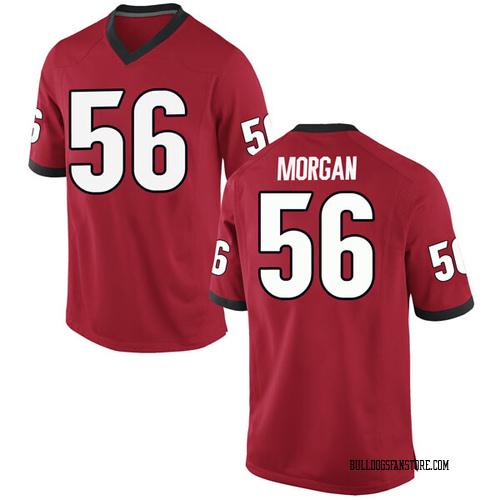 Men's Nike Oren Morgan Georgia Bulldogs Game Red Football College Jersey