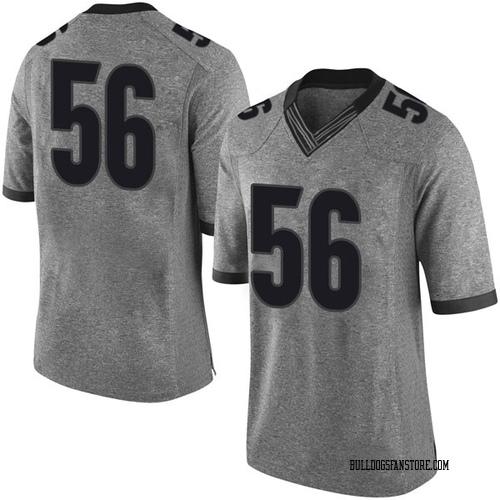 Men's Nike Oren Morgan Georgia Bulldogs Limited Gray Football College Jersey