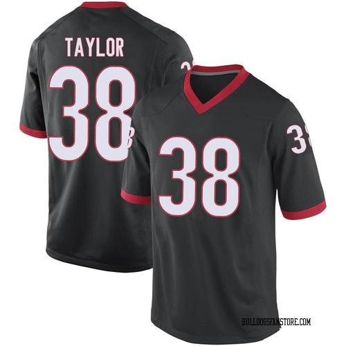 Men's Nike Patrick Taylor Georgia Bulldogs Game Black Football College Jersey