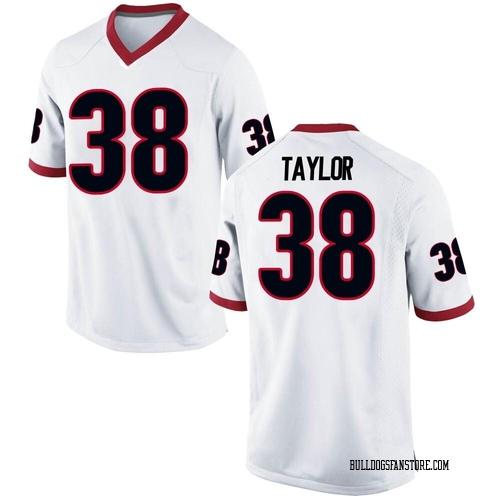 Men's Nike Patrick Taylor Georgia Bulldogs Game White Football College Jersey