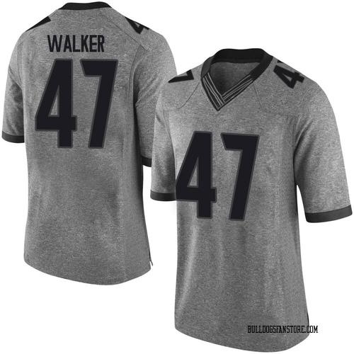 Men's Nike Payne Walker Georgia Bulldogs Limited Gray Football College Jersey