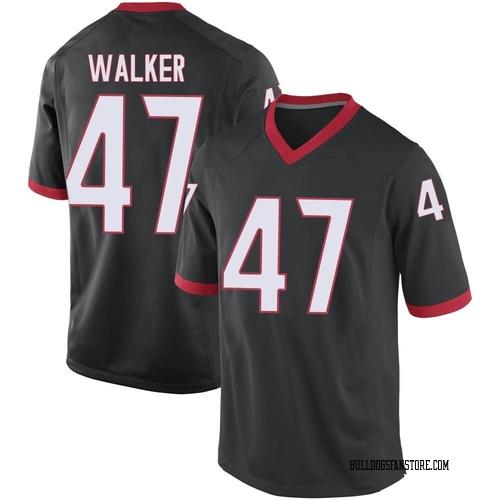 Men's Nike Payne Walker Georgia Bulldogs Replica Black Football College Jersey