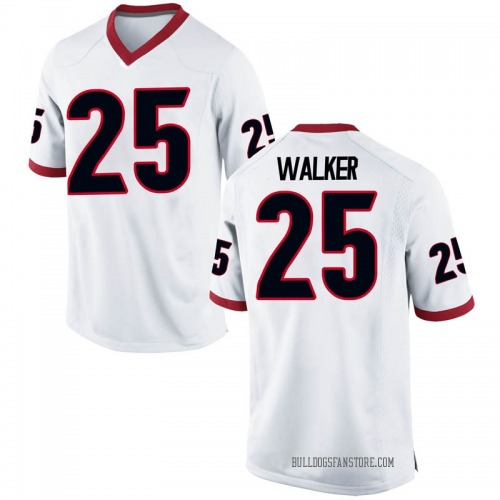 Men's Nike Quay Walker Georgia Bulldogs Game White Football College Jersey