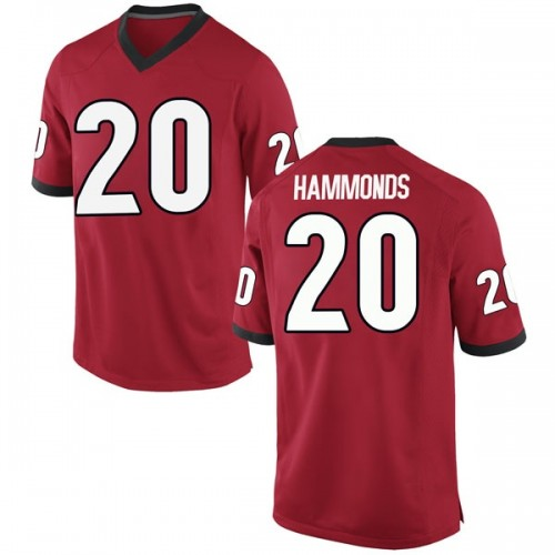 Men's Nike Rayshaun Hammonds Georgia Bulldogs Replica Red Football College Jersey
