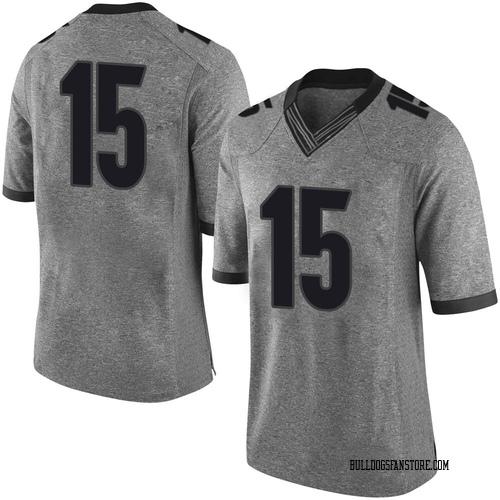 Men's Nike Stetson Bennett Georgia Bulldogs Limited Gray Football College Jersey