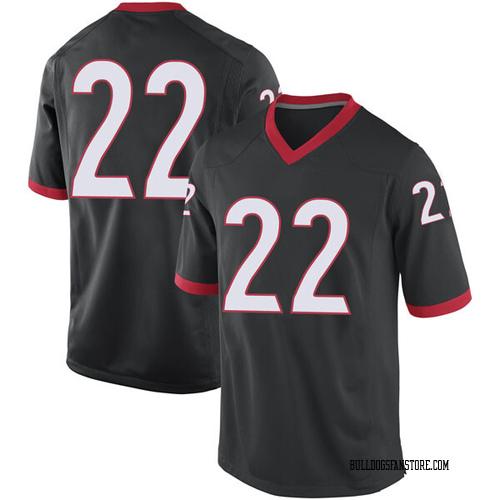 Men's Nike Stetson Bennett Georgia Bulldogs Replica Black Football College Jersey