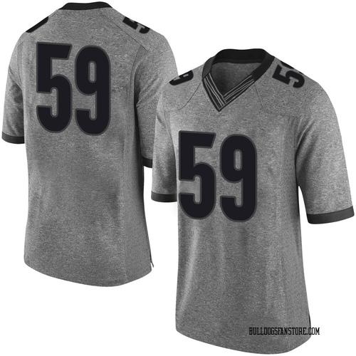 Men's Nike Steven Nixon Georgia Bulldogs Limited Gray Football College Jersey