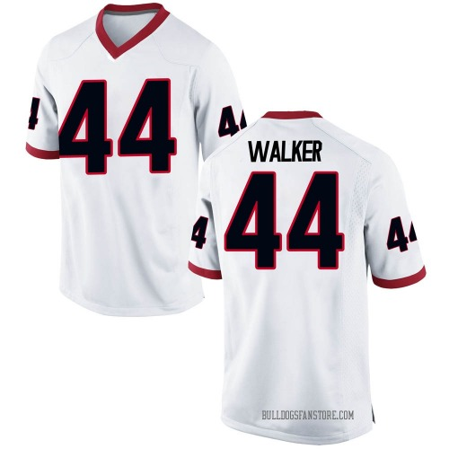 Men's Nike Travon Walker Georgia Bulldogs Game White Football College Jersey