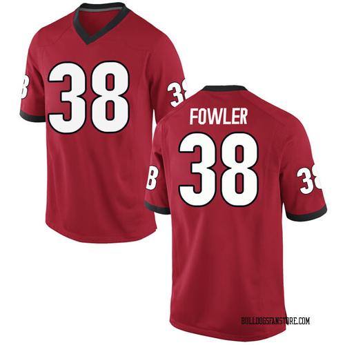 Men's Nike Trent Fowler Georgia Bulldogs Replica Red Football College Jersey