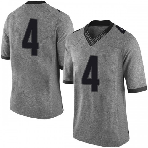 Men's Nike Tyree Crump Georgia Bulldogs Limited Gray Football College Jersey