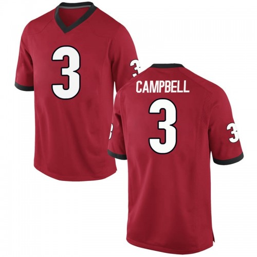 Men's Nike Tyson Campbell Georgia Bulldogs Game Red Football College Jersey