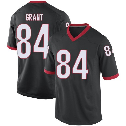 Men's Nike Walter Grant Georgia Bulldogs Game Black Football College Jersey