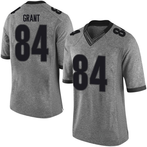 Men's Nike Walter Grant Georgia Bulldogs Limited Gray Football College Jersey