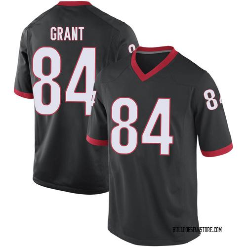 Men's Nike Walter Grant Georgia Bulldogs Replica Black Football College Jersey