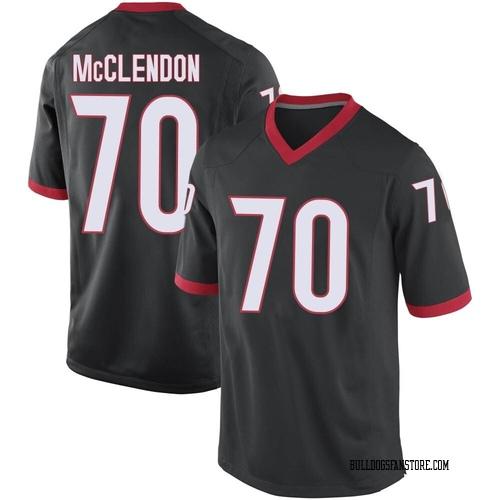 Men's Nike Warren McClendon Georgia Bulldogs Game Black Football College Jersey