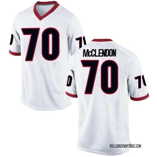 Men's Nike Warren McClendon Georgia Bulldogs Game White Football College Jersey