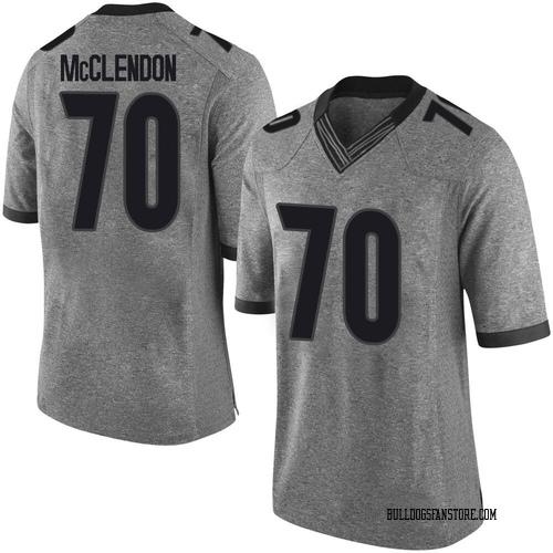Men's Nike Warren McClendon Georgia Bulldogs Limited Gray Football College Jersey