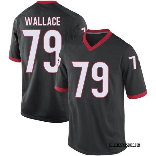 Men's Nike Weston Wallace Georgia Bulldogs Game Black Football College Jersey