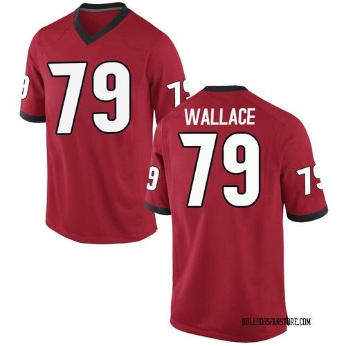 Men's Nike Weston Wallace Georgia Bulldogs Game Red Football College Jersey