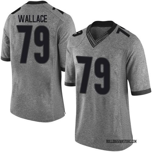 Men's Nike Weston Wallace Georgia Bulldogs Limited Gray Football College Jersey