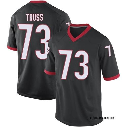 Men's Nike Xavier Truss Georgia Bulldogs Replica Black Football College Jersey