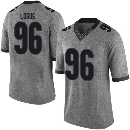 Men's Nike Zion Logue Georgia Bulldogs Limited Gray Football College Jersey