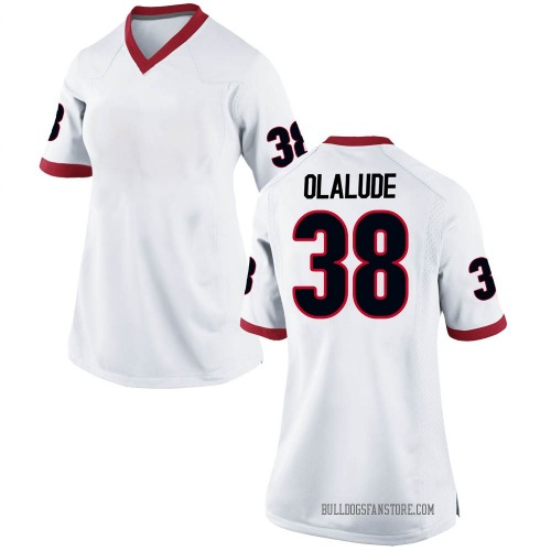 Women's Nike Aaron Olalude Georgia Bulldogs Game White Football College Jersey