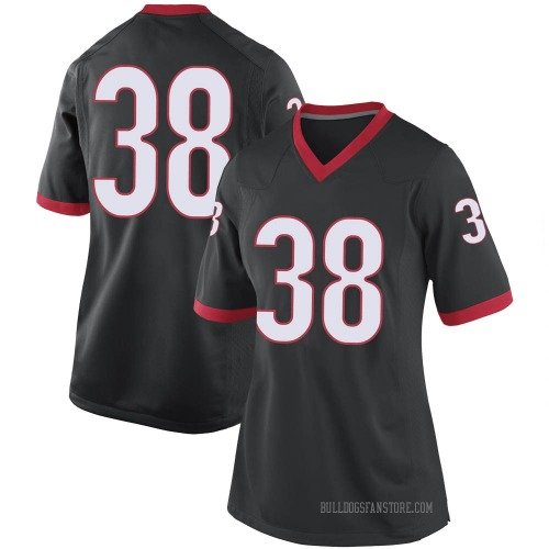 Women's Nike Aaron Olalude Georgia Bulldogs Replica Black Football College Jersey