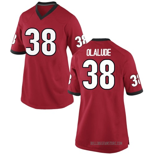 Women's Nike Aaron Olalude Georgia Bulldogs Replica Red Football College Jersey