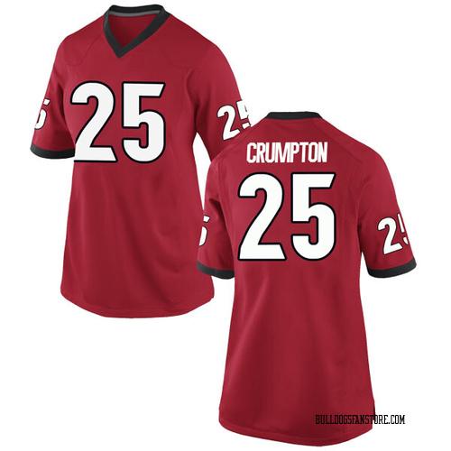 Women's Nike Ahkil Crumpton Georgia Bulldogs Game Red Football College Jersey