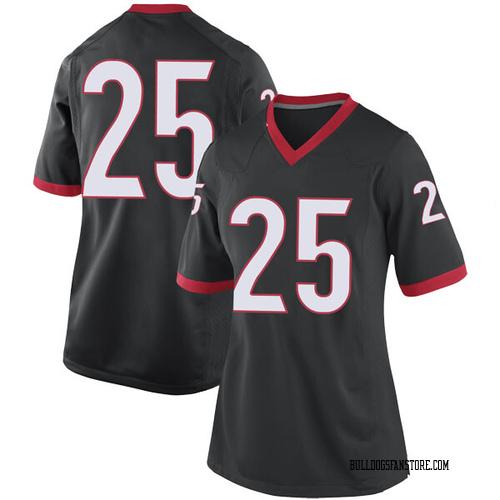 Women's Nike Ahkil Crumpton Georgia Bulldogs Replica Black Football College Jersey