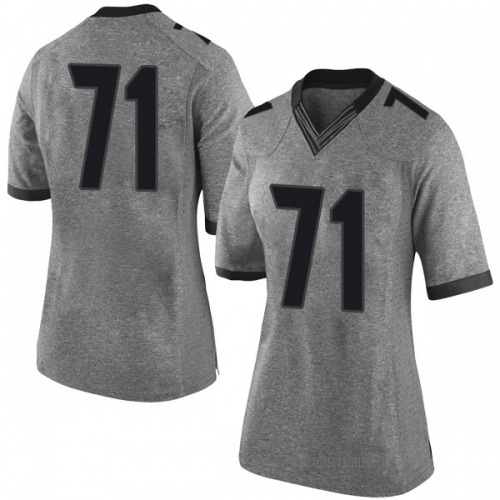 Women's Nike Andrew Thomas Georgia Bulldogs Limited Gray Football College Jersey