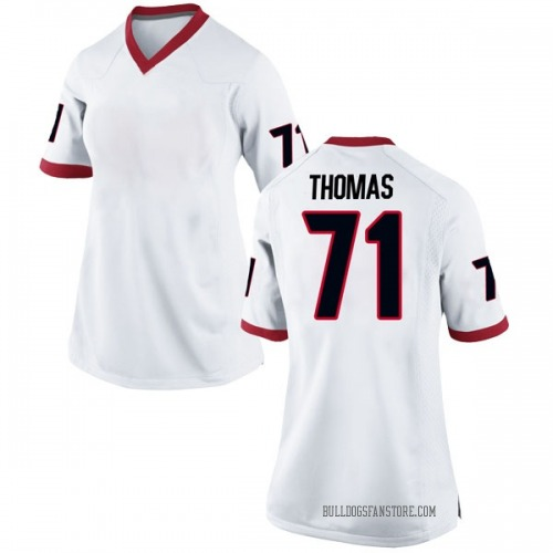 Women's Nike Andrew Thomas Georgia Bulldogs Replica White Football College Jersey