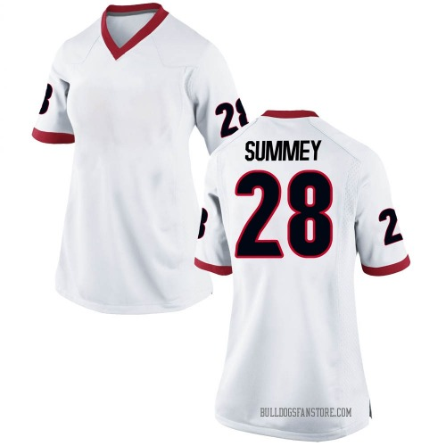 Women's Nike Anthony Summey Georgia Bulldogs Replica White Football College Jersey