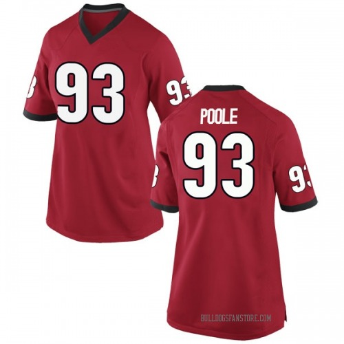 Women's Nike Antonio Poole Georgia Bulldogs Game Red Football College Jersey