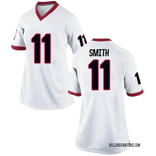 Women's Nike Arian Smith Georgia Bulldogs Replica White Football College Jersey