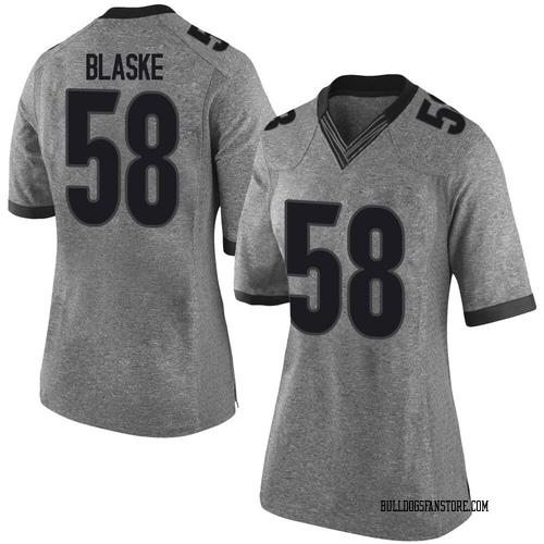 Women's Nike Austin Blaske Georgia Bulldogs Limited Gray Football College Jersey
