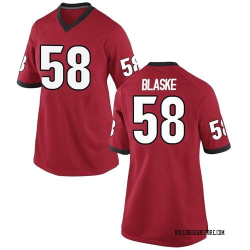 Women's Nike Austin Blaske Georgia Bulldogs Replica Red Football College Jersey