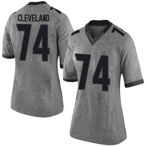 Women's Nike Ben Cleveland Georgia Bulldogs Limited Gray Football College Jersey