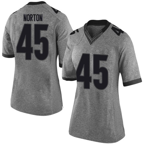 Women's Nike Bill Norton Georgia Bulldogs Limited Gray Football College Jersey
