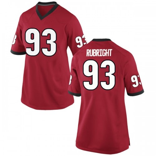 Women's Nike Bill Rubright Georgia Bulldogs Replica Red Football College Jersey