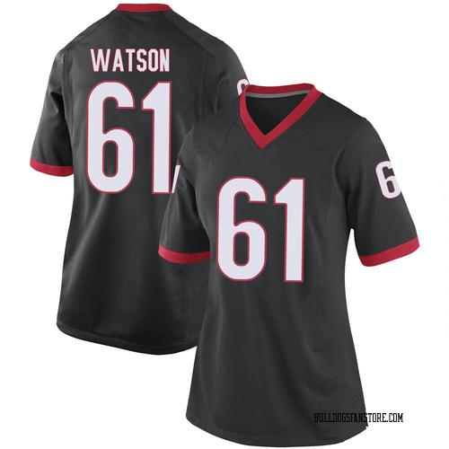 Women's Nike Blake Watson Georgia Bulldogs Replica Black Football College Jersey