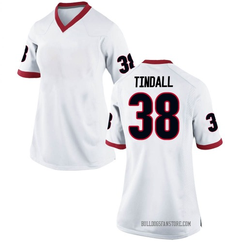 Women's Nike Brady Tindall Georgia Bulldogs Game White Football College Jersey