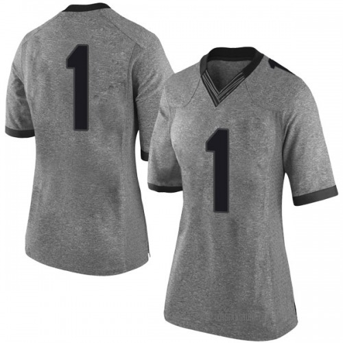 Women's Nike Brenton Cox Georgia Bulldogs Limited Gray Football College Jersey