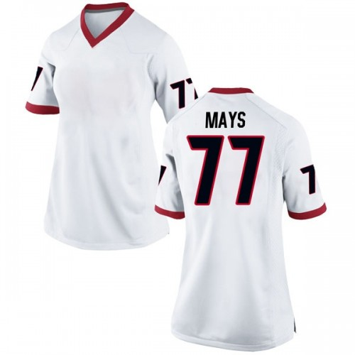 Women's Nike Cade Mays Georgia Bulldogs Replica White Football College Jersey